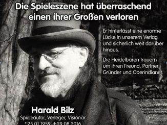 Harald Bilz (Heidelberger-Spieleverlag) 25.01.1959 - 29.08.2016